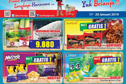 Katalog Promo Hari Hari Swalayan KJSM Weekend 17 - 20 Januari 2019