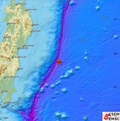 Ισχυρός σεισμός 6 Ρίχτερ σε θαλάσσια περιοχή ανατολικά της Ιαπωνίας πριν από λίγο