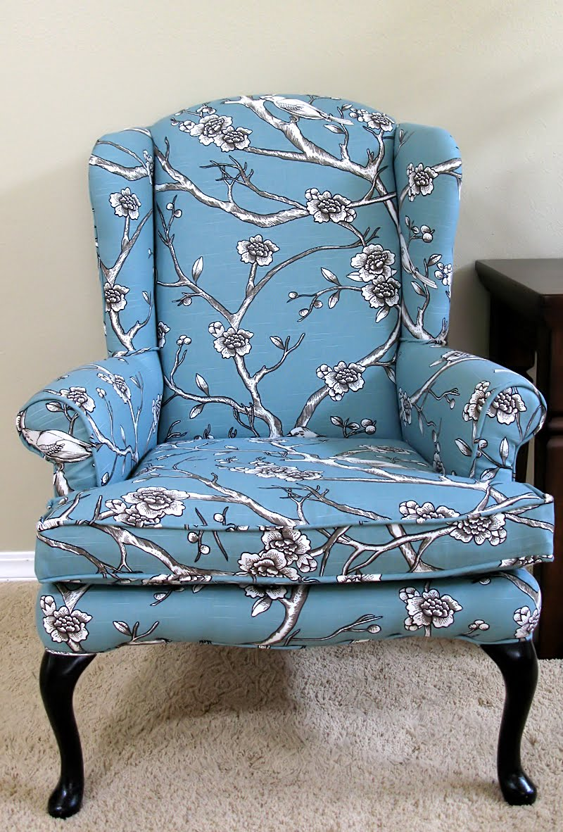 Cost Of Reupholstering A Chair Modest Maven Vintage Blossom Wingback Chair