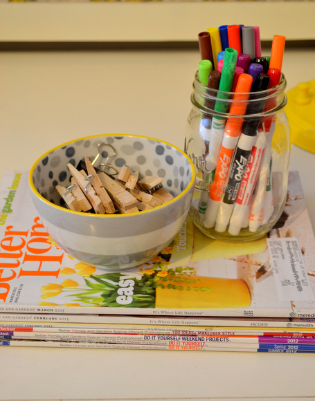 Better Homes and Gardens Magazine Mason Jar with markers