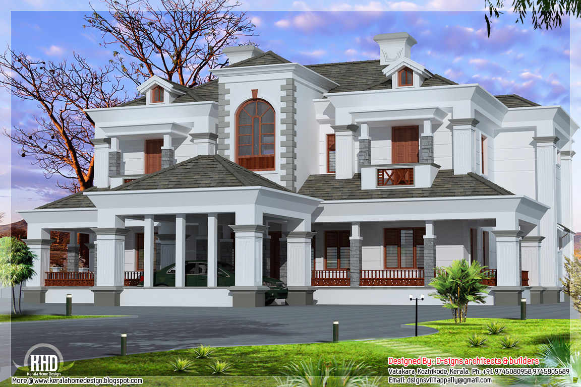 Victorian Style Luxury Home Design Kerala Home Decor