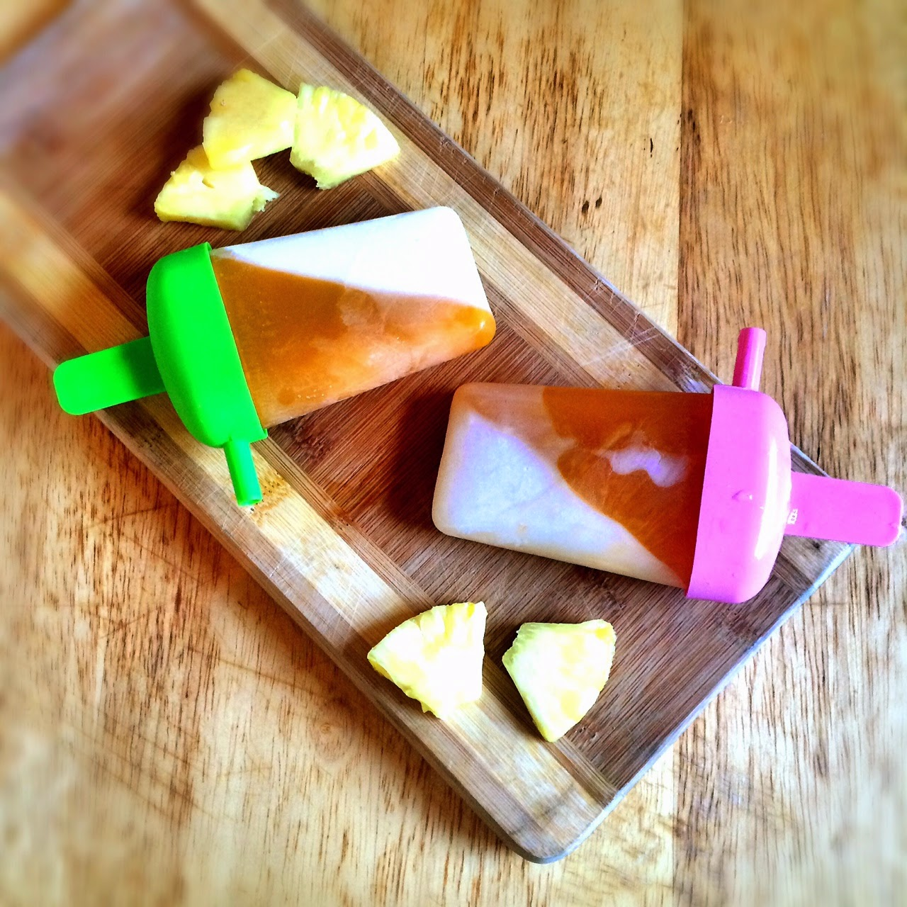 Vegan Yogurt Peach Mango Popsicle - heatherq.com