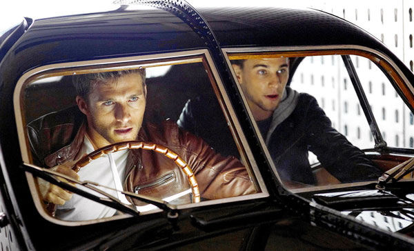 Scott Eastwood and Freddie Thorp play two half-brother car thieves in OVERDRIVE (2017)