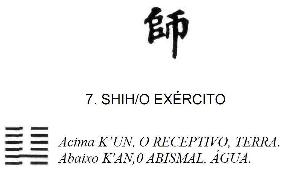 Imagem de Shih, Exército, sétimo dos 64 hexagramas do I Ching, o Livro das Mutações