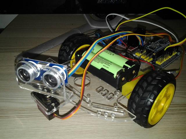 โปรเจค หุ่นยนต์หลบสิ่งกีดขวาง Arduino Nano