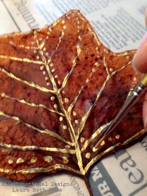 Painted Leaves by Laura Beth Love Dishfunctional Designs