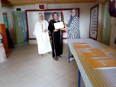 توزيع شواهد التخرج للمستفيذين من النادي النسوي لمدينة برشيد