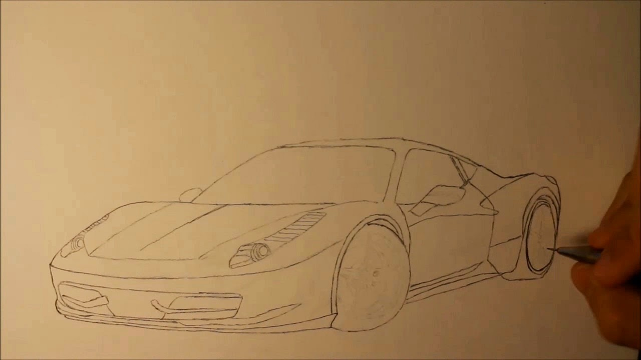 Drawing cars step by step guide.