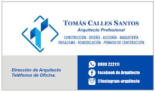 Diseños de tarjetas personales para arquitecto
