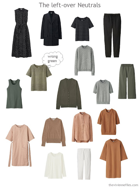extra neutral garments to be evaluated for keeping in a capsule wardrobe