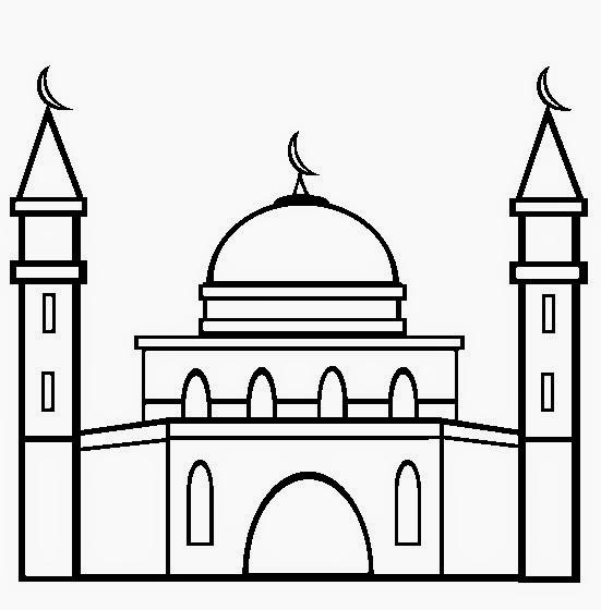 Menggambar Masjid Bagus Gambar Islami