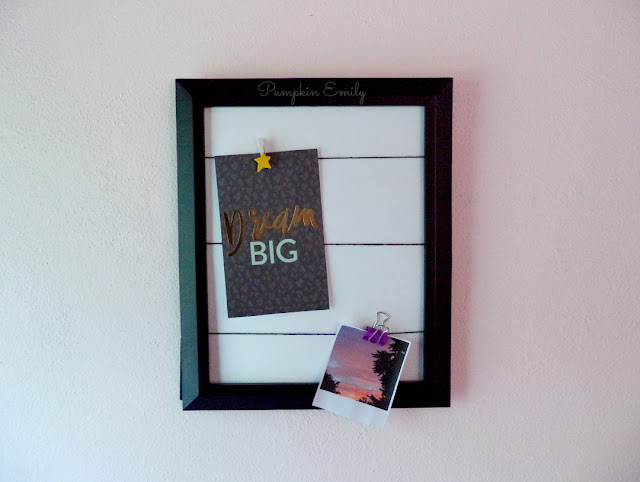 DIY Picture Frame Memo Board