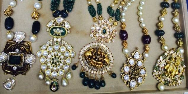 Large Precious Beads Kundan Pendants