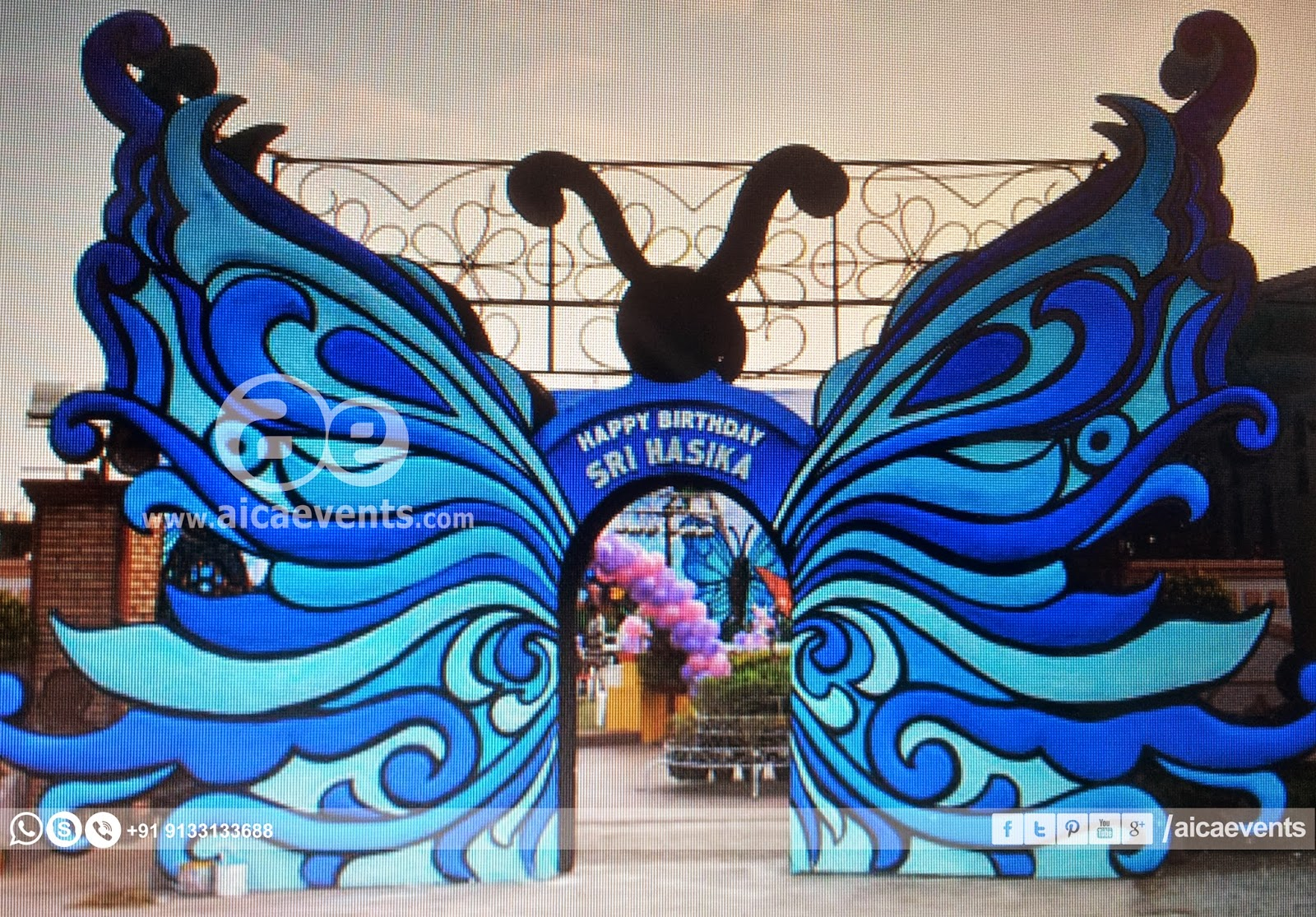 Well-known Aicaevents India: Butterfly Theme Birthday Party RL98