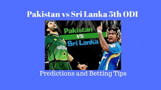 Pakistan vs Sri Lanka 5th ODI Predictions and Betting Tips for Today Match