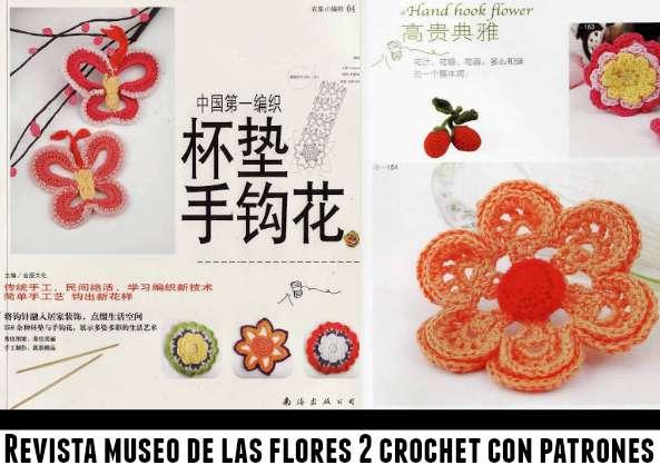 Revista enciclopedia de flores de crochet