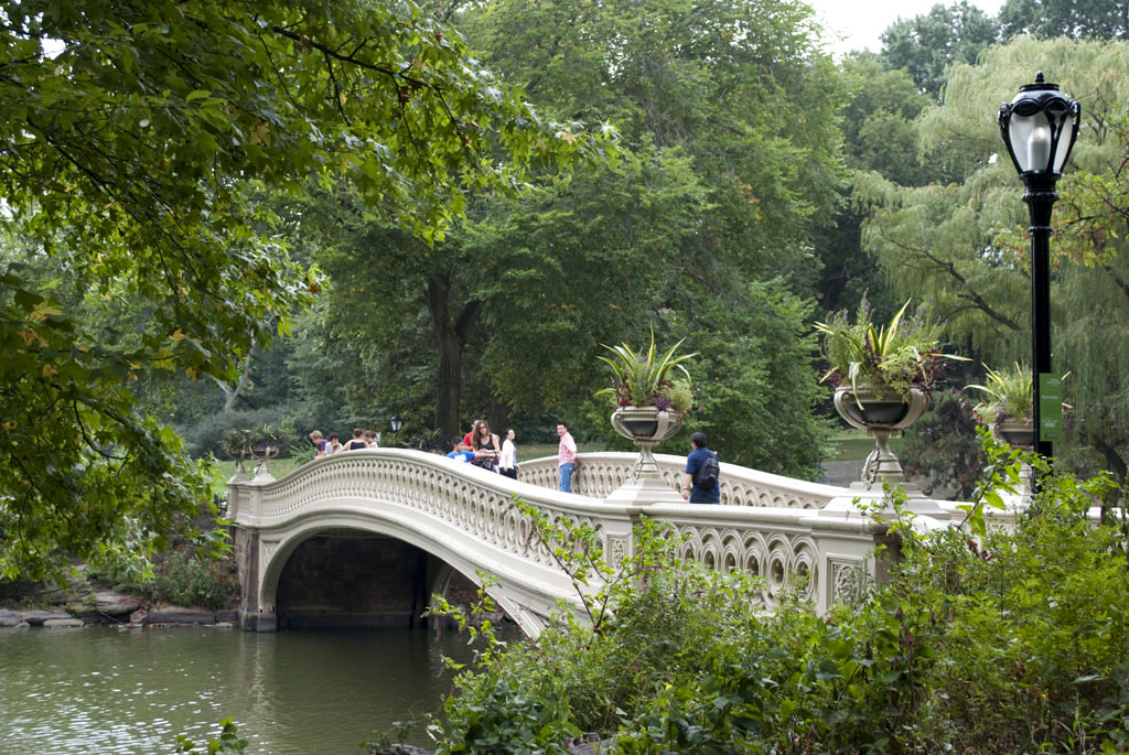 bow bridge central park summer nyc