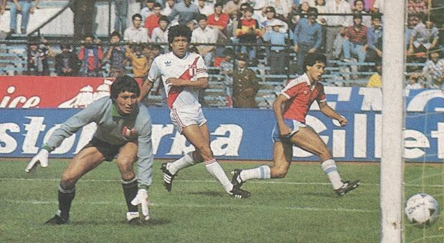 Chile y Perú en Clasificatorias a México 1986, 27 de octubre de 1985