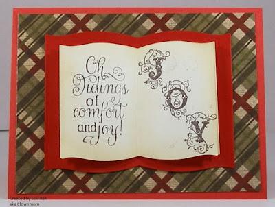 ODBD Christmas Carols, ODBD Flourished Alphabet, ODBD Customer Card of the Day Created by Lois Bak aka Clownmom
