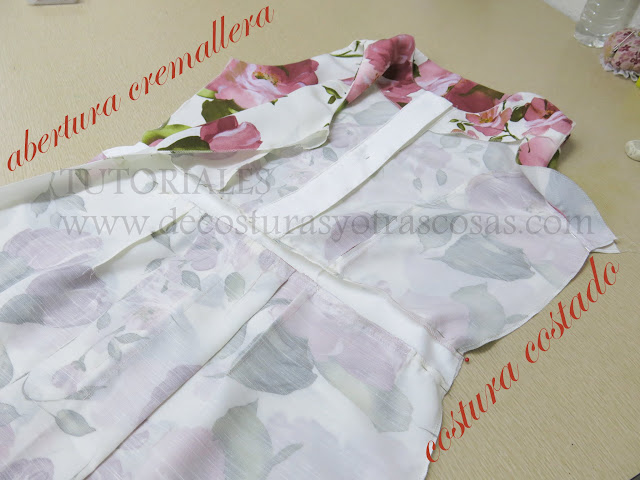 abertura lateral del vestido para poner cremallera