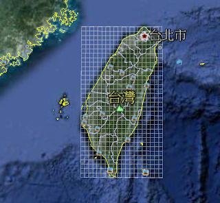 豆腐腦: 替臺灣地圖經緯度加上格線