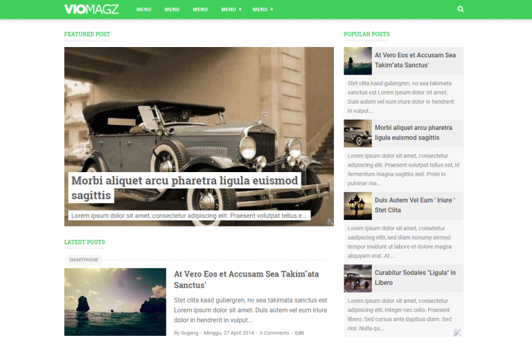 VioMagz Blogger Template Premium