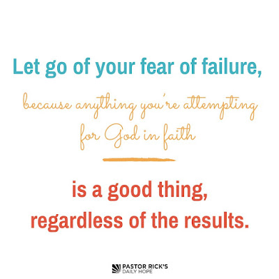 It's Time to Redefine Failure by Rick Warren
