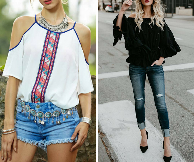 Bellalike Cold Shoulder tops