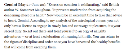 Maugham Horoscope Wisdom