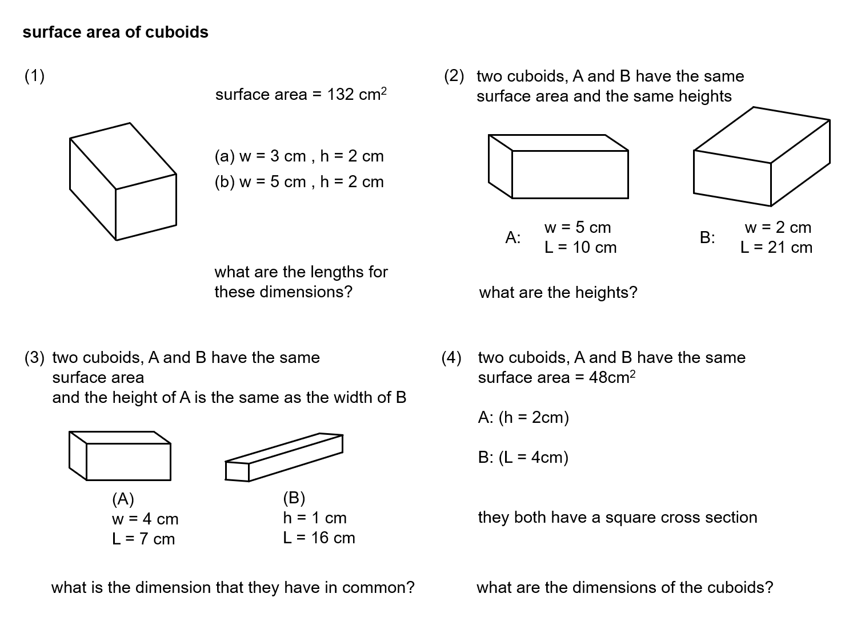 Median Don Steward Mathematics Teaching Cuboid Surface Area