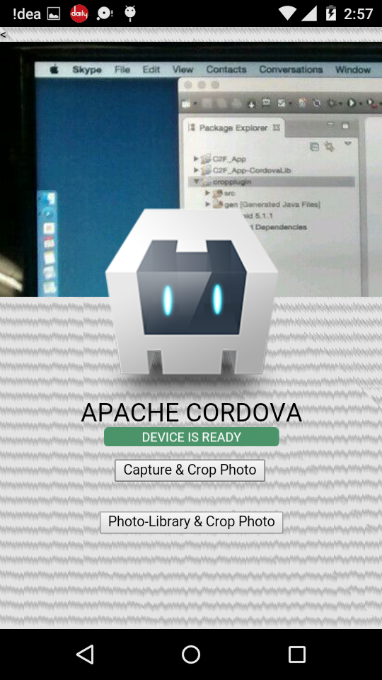 Cordova plugin Crop Image in Android