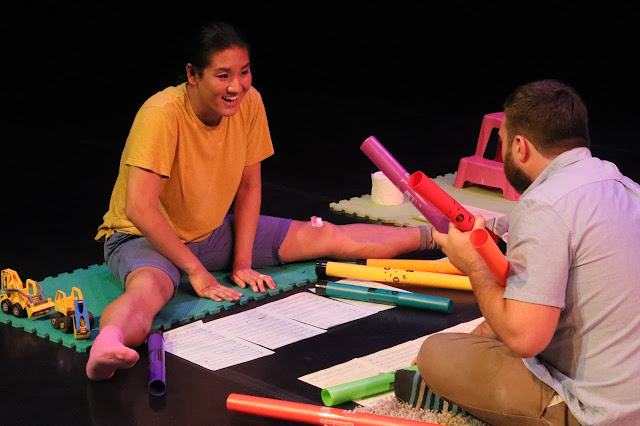 Laura Bowler: I'm Not A Bit Like A Clown - Alexandra Bork, Nathan Gregory - Metta Theatre at Tête à Tête (Photo Claire Shovelton)