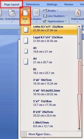 Cara Setting Ukuran Kertas HVS F4 MS Word