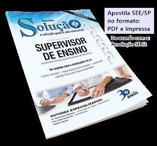 Apostila Supervisor de Ensino SEESP 2017