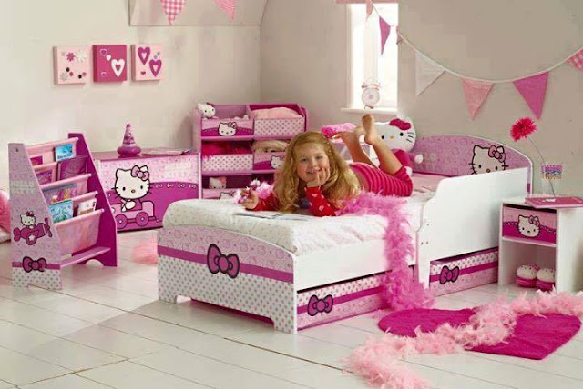 Girls sleeping rooms, pink color