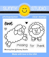 Sunny Studio Stamps: Introducing Missing Ewe Sheep 2x3 Photopolymer Clear Stamp Set