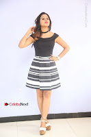 Actress Mi Rathod Pos Black Short Dress at Howrah Bridge Movie Press Meet  0012.JPG