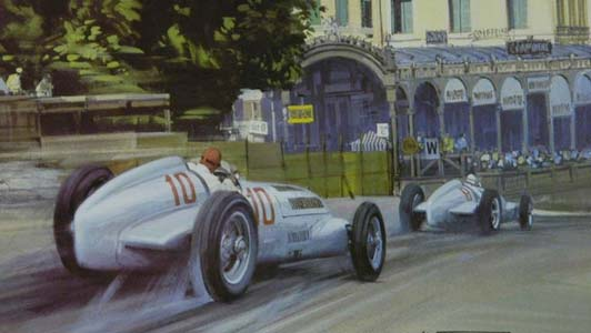 G.P. of Monaco 1937 print by Michael Turner, available in the collection