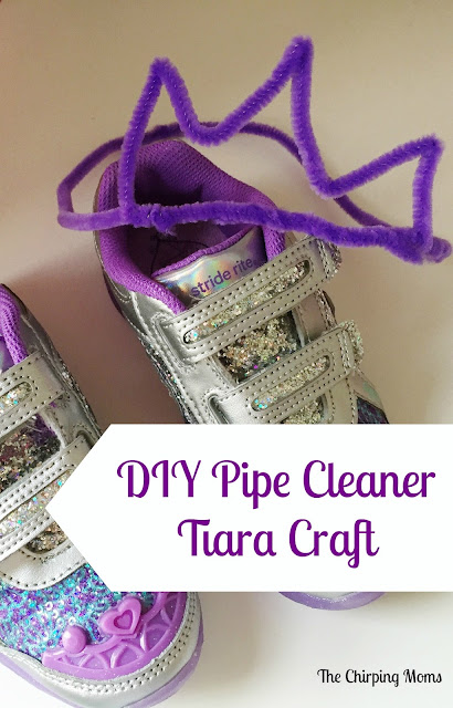DIY Pipe Cleaner Tiara Craft || The Chirping Moms
