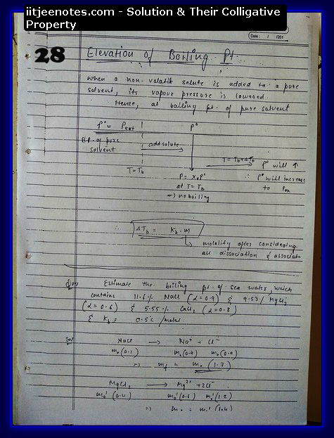 Solution and Their Colligative Property Notes12