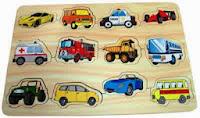 Game puzzle untuk anak mobil