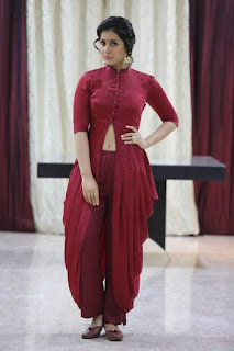 Rashi Khanna Stills in Red Dress at Bahar Cafe Restaurant Launch ~ Celebs Next