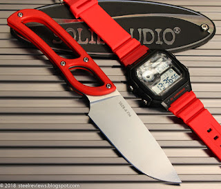 Sanrenmu S628 compact fixed blade knife + SKMEI watch