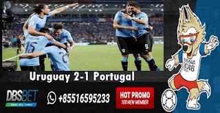 uruguay 2-1 portugal piala dunia 01 juli 2018