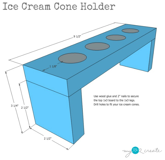 DIY Ice cream cone holder
