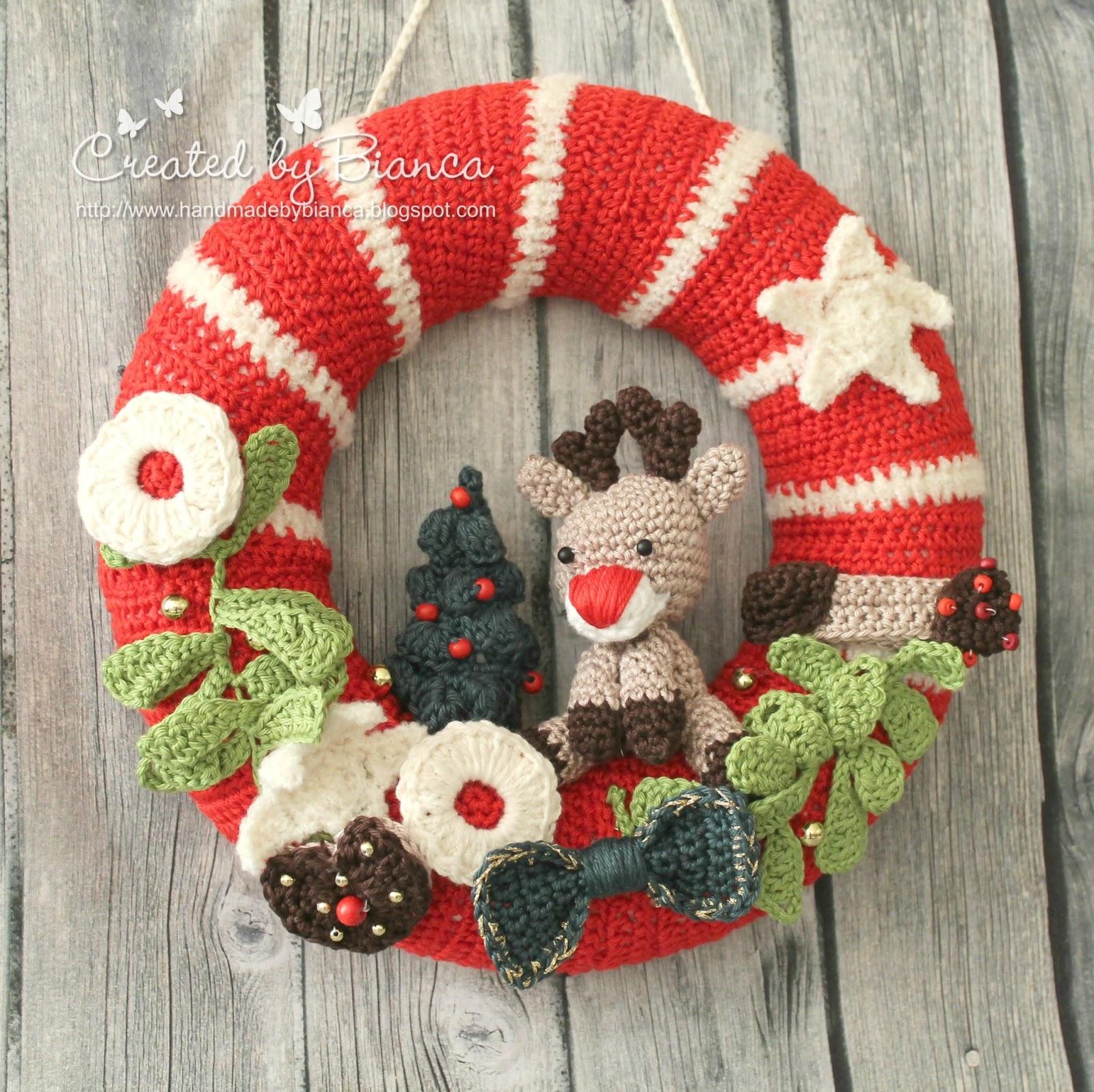 Handmade By Bianca Gehäkelter Türkranz Für Die Weihnachtszeit