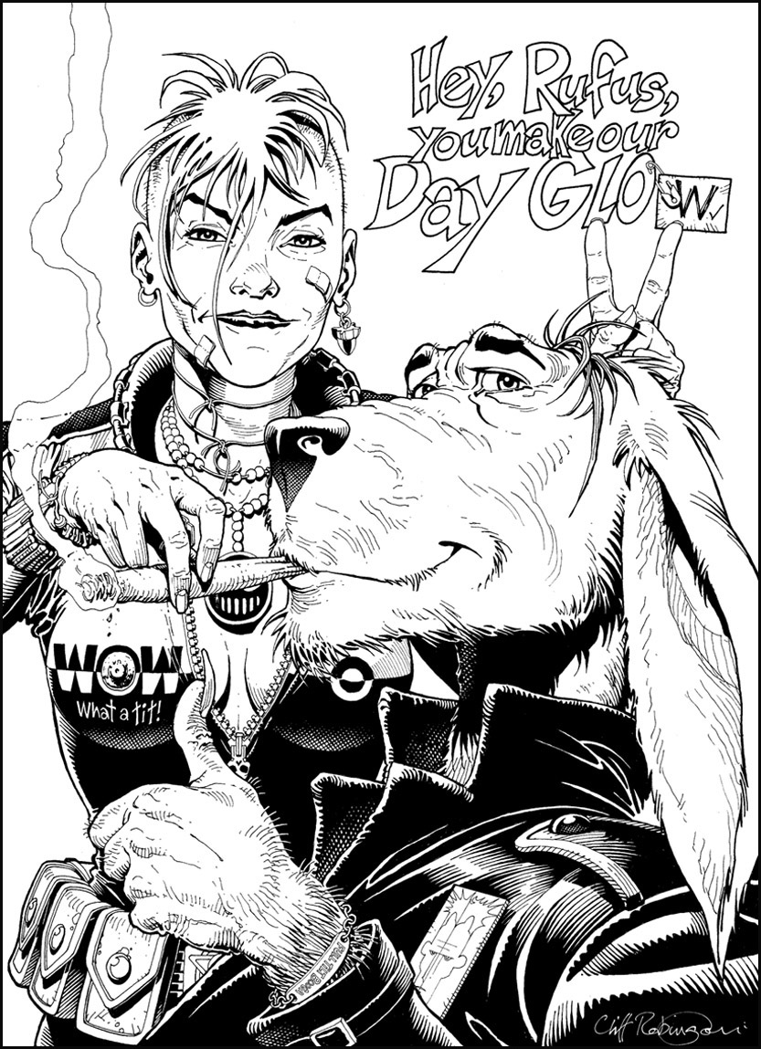 Cliff Robinson ic Art Tank Girl & Booga