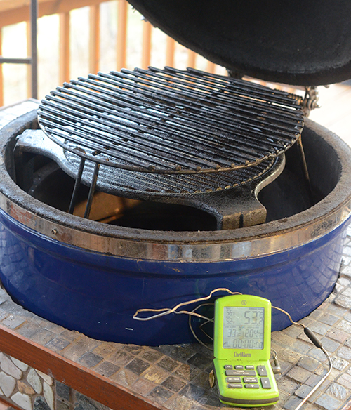 Grill Dome is a brand of ceramic kamado grills.  Others include Big Green Egg, Primo Grills, Kamado Joe and Vision Grills. Thermoworks ChefAlarm pictured