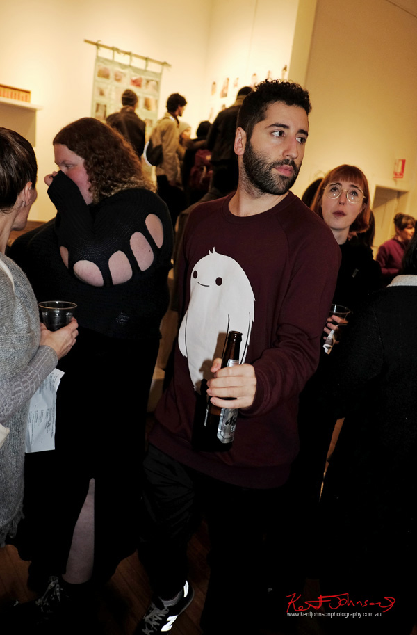 Ghost, Snap-Chat motif sweat shirt. Menswear. Photography by Kent Johnson for Street Fashion Sydney.