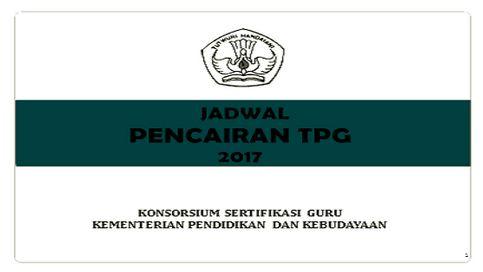 Inilah Jadwal Pencairan TPG Tahun 2017 Triwulan I II III Dan IV